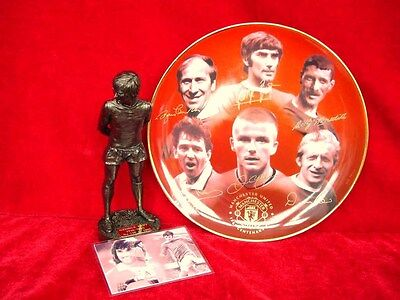 Manchester United Gift Collection Ltd Edition George Best &  Danbury Mint Plate