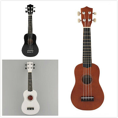 New 21'' Acoustic Ukulele 12 Instrument Hawaiian Guitar Coffee/Black/White