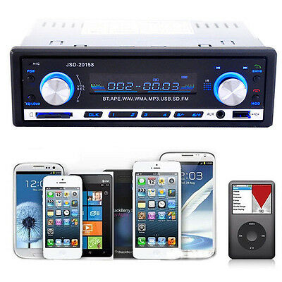 USB MP3 Radio Player Bluetooth Car Stereo Audio In-Dash FM Aux Input Receiver