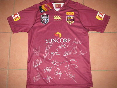 2015 Queensland State of Origin Team Hand Signed Jersey   Maroons