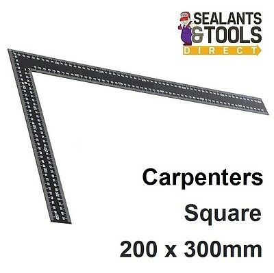 Carpenters Heavy Duty Steel Framing Square 200 x 300mm Marking Out Tool Roofing