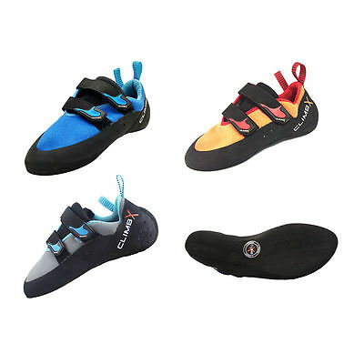 Climbing Rock Shoes Bouldering Sports Gym Leather ClimbX RAVE Rental Womens Mens