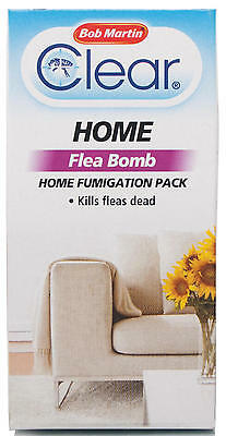 Flea Fumigation Bomb Home  Pack - Bob Martin Clear  - Dog Cat Animal Pest