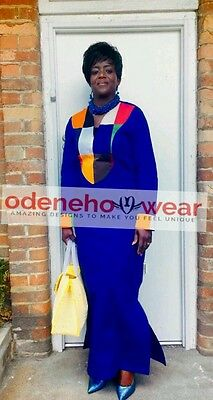 Odeneho Wear Ladies Long Polished Cotton Dress/Patch Cotton.African Clothing.