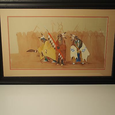Harvey Pratt Original Painting / Cheyenne/arapaho/sioux