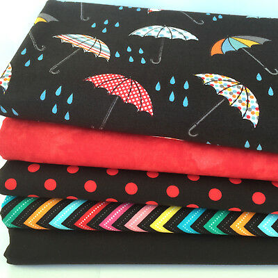 Rainy days 5 piece fat quarter bundle 100% cotton fabric for sewing FREEPOST