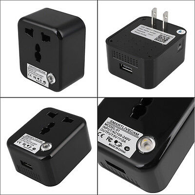 Pro 1080P HD WiFi Live Camera Hidden Plug Charger For Andorid&IOS Devices