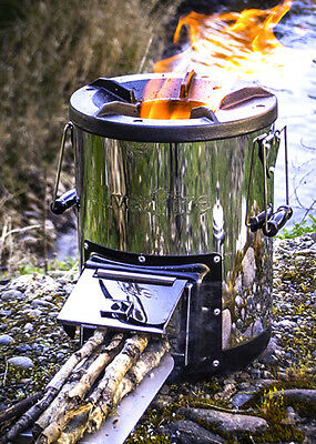 SilverFire Survivor Rocket Stove Wood Burning Biomass Tlud Gasifier Camping NEW