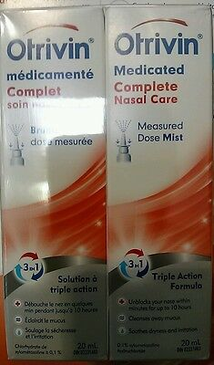 Otrivin Complete Medicated Nasal Spray 4 x 20 ml Free Shipping