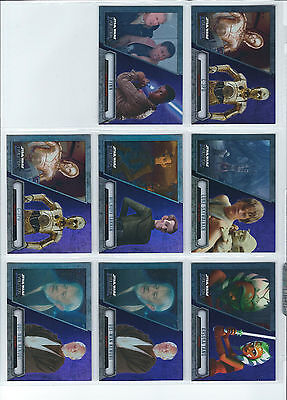 Star Wars - Evolution - Purple Parallel Trading Card Lot of 8 - Topps 2016 - NM