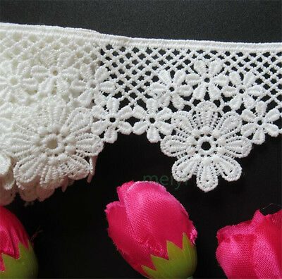 1 yd Vintage Flower Polyester Cotton Lace Edge Trim Wedding Ribbon Sewing Craft