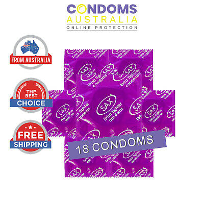 Sax EXTRA TIGHTER Fitting Condom (18 Condoms) FREE SHIPPING