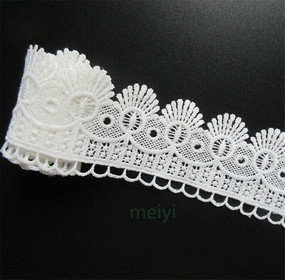 1yd Vintage Polyester Cotton Lace Edge Trim Ribbon Wedding Applique Sewing Craft
