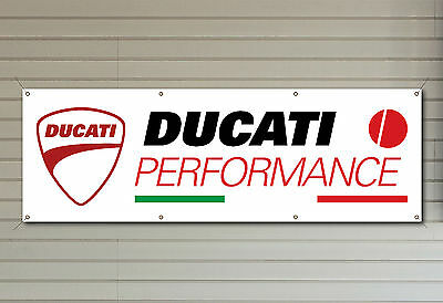 DUCATI PERFORMANCE PVC logo banner for your workshop garage or man cave