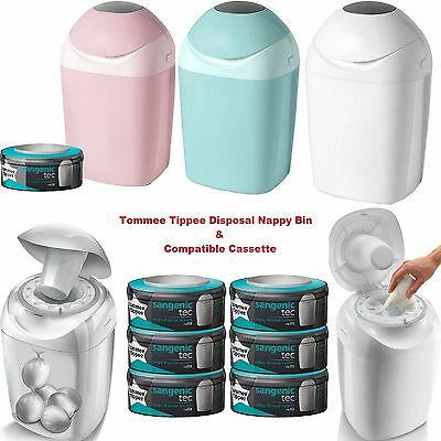 Tommee Tippee Accessories Sangenic Nappy Sacks Disposal Bin Tub & Cassette Baby