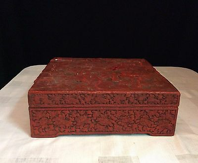 Antique Asian Red Wooden Box (KP170)