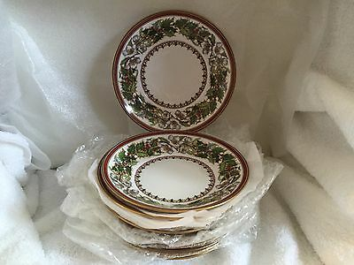 """SPODE CHINA CHRISTMAS ROSE Y8560 made in England  SET OF 12 SAUCERS 6"""" across"""