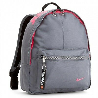 4355259547 Nike Just Do it Rucksack Backpack Mini Small item Bag Back to School Grey  Pink