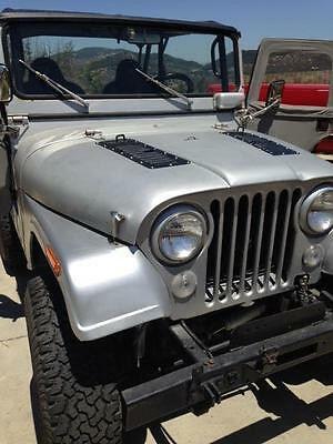 """New! Willys CJ5 Pair of 5"""" Louvered Panels Hood louvers Bolt-on style Vent Kit"""