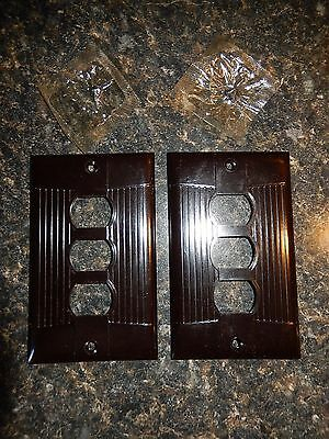 Rare Eagle 3 Position Despard Switch Plates(2)Tuxedo Style~Fast Free Ship!