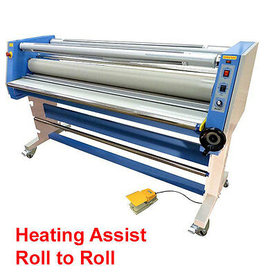 NEW VT-9600H 65 USTECH Cold roller laminator w/heat assist w/Rewind Roll to Roll