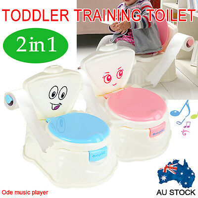 Music 2 in1 Kids Children Baby Toddler Toilet Training Potty Trainer Seat Chair