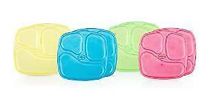 Baby Feeding - Nuby - 4pc Wash Toss Stackable Plates (1-set) Vary Color 94025