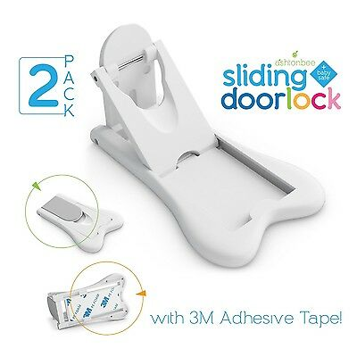 Sliding Door Lock for Child Safety - Baby Proof Doors & Closets. Childproof your