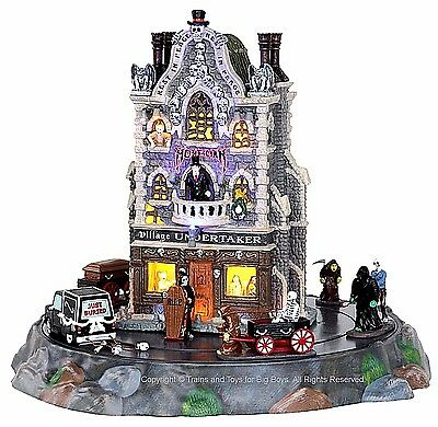 Lemax 25335 VILLAGE UNDERTAKER Spooky Town Building Animated Halloween Decor I