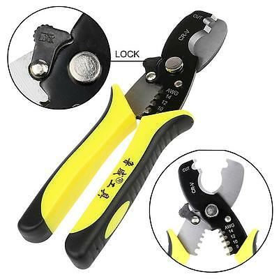 "7"" Multi-function Electric Cable Cutter Wire Stripper Plier Crimper Hand Tool 1."
