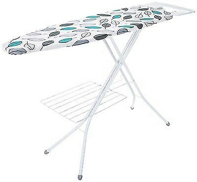 EX-DISPLAY MINKY 122 x 38cm ABSTRACT LEAF DESIGN IRONING BOARD! WITH RACK £29.99