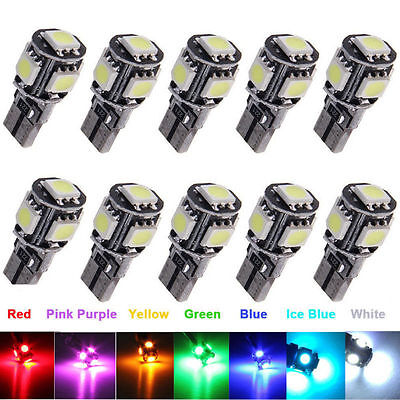 20X 10X 4X 2X 1X T10 Led White 501 194 168 W5W 5Smd  Canbus Car Side Light Bulb