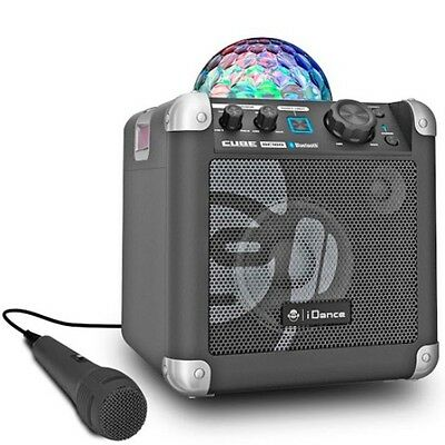 Home Singing Machine Karaoke System Disco Light Show 2x Microphone iPad Android