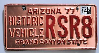 ARIZONA USA (HISTORIC VEHICLE COPPER PLATE) number plate/License plate.