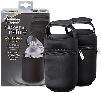 Tommee Tippee Closed to Nature 2 x Insulated Bottle Bags - 43129371