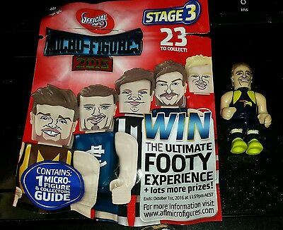 Coles 2016 AFL Micro Figures WEST COAST EAGLES DOM SHEED Young Stars #4 Stage 3