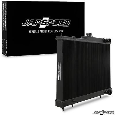 Japspeed Alloy Black Race Drift Radiator For Nissan Skyline R33 R34 Gtst Gtt Gtr