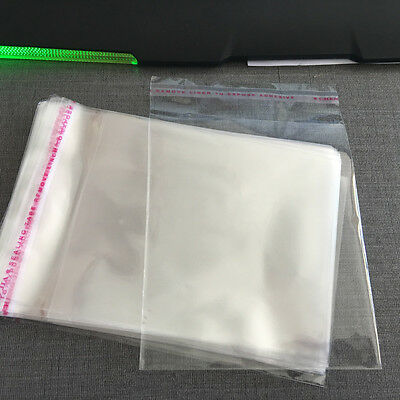 100 Pcs Self Adhesive Jewelry Bags Poly Plastic Opp Clear Seal 4x6 Inch Unsealed