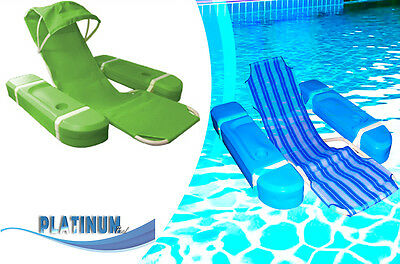 Pool floating chair water float chairs with drink holder and armrests