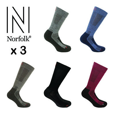 3 Pairs Men's Norfolk Trekking, Hiking & Walking Merino Wool Sock- Leonardo