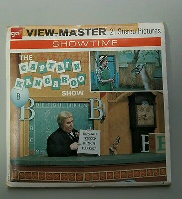 Viewmaster reels The Captain Kangaroo Show # B 565 w/ booklet  from 1970