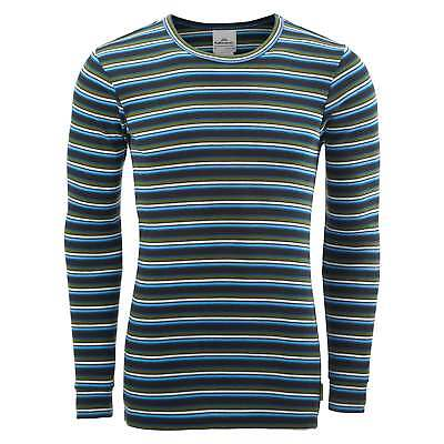 Kathmandu Polypro Unisex Long Sleeve Crew Neck Thermal Top v2 Multi Stripe