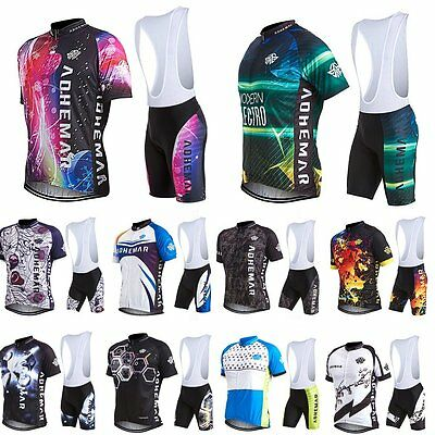 2016 Hot Fashion Short Sleeve Bicycle Cycling Jersey Shirt Bib Shorts Pants Set