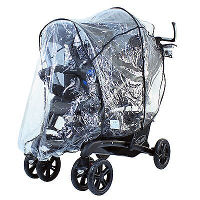 Graco Quattro Tour Duo Weatherproof Ventilated Raincover For Double Pushchair