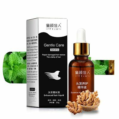 Effective Hair Loss Fast Restoration Oil Growth Essence Pilatory Ginger Baldness