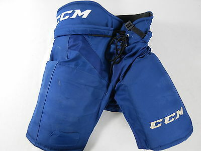 Team Issued CCM Royal Blue OHL Game Worn Pro Stock Ice Hockey Player Pants L CHL