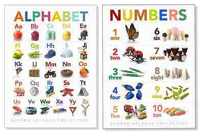 2-pc Alphabet & Numbers Chart - Childrens Learning Posters