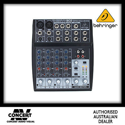 Behringer Xenyx 802 Mixer with 3 Band EQ BRAND NEW GENUINE