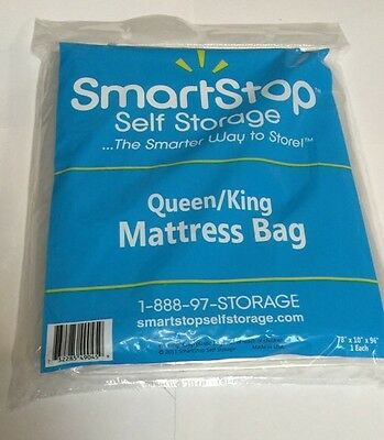 "New Made USA Self Storage Queen King Mattress Clear Plastic Bag 78"" X 10"" X 96"""