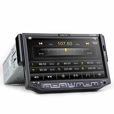 """In Dash Single 1 DIN 7"""" Car DVD Player Radio 8 Stereo Bluetooth Touch Screen MP3"""
